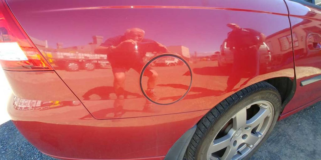 Holden Commodore Fuel Flap Hinge repair